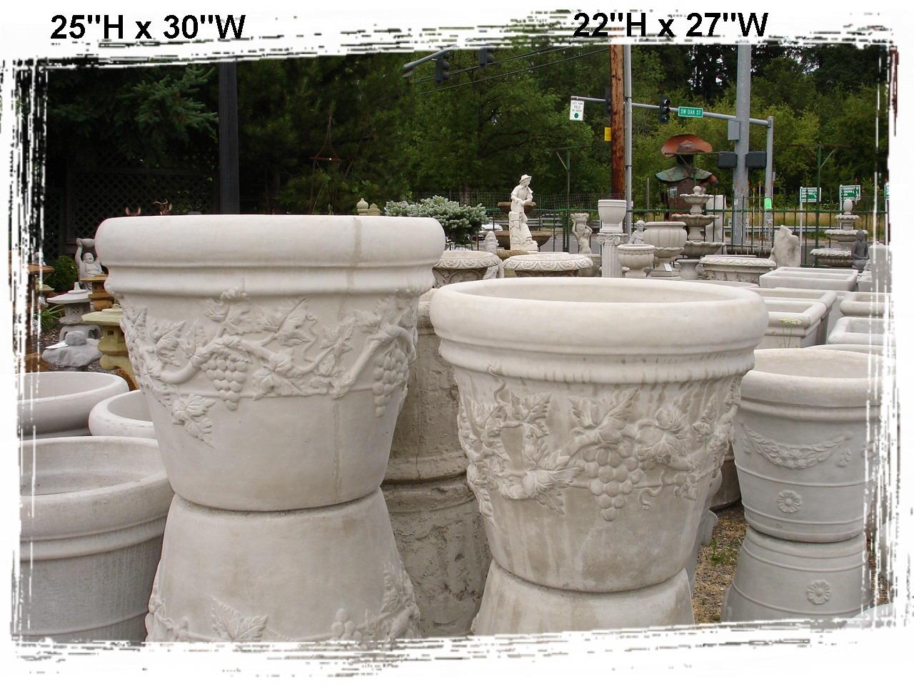 Concrete Planters / Little Baja Garden Deck and Patio Decor