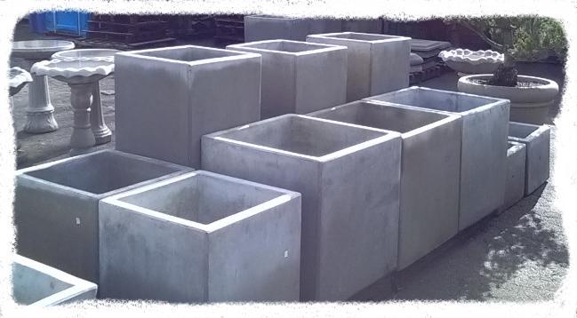 Plain Concrete Planters, Cube