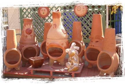 Baja chimney little baja finest terra cotta fireplace for Little baja pottery